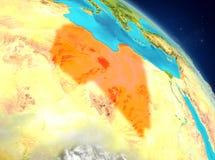 Libia de la órbita ilustración del vector