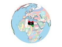 Libia en el globo aislado Fotografía de archivo libre de regalías