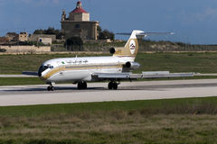 Libiër 727 landende baan 32 Stock Afbeeldingen