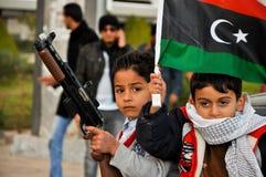 Libische jonge geitjes Stock Foto's