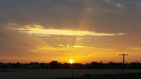 Libische zonsondergang stock afbeeldingen