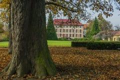 Libochovice slott/Tjeckien Fotografering för Bildbyråer