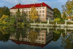 Libochovice slott/Tjeckien Royaltyfri Foto