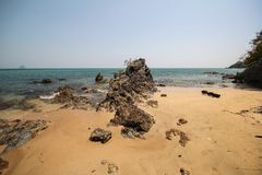 Libong海岛,酸值Libong, Trang,泰国 免版税库存照片