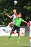 Libor Holik och Lukas Stratil - fotboll fotografering för bildbyråer