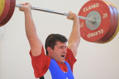 Libor Walzer - weightlifting Royalty Free Stock Photo