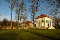 Libosad - Valdstejn lodgie in the park of the same name near Jicin stock photo