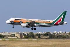 Libré especial Alitalia A320 Foto de Stock Royalty Free