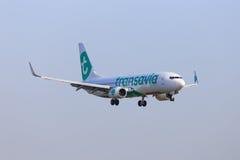 Libré nova do jato de Transavia Imagens de Stock