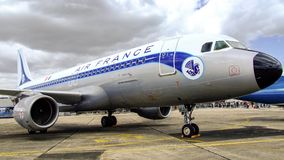 Libré retro de Air France Airbus A320 Fotos de Stock