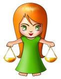 Libra. Illustration of Libra in cartoon style Stock Photography