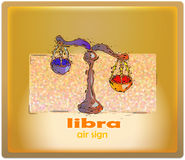 Libra. Air sign of zodiac royalty free illustration
