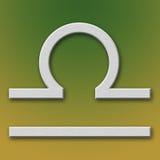 Libra Aluminum Symbol. On background degraded stock illustration