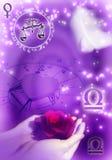 Libra astrológico de la muestra ilustración del vector