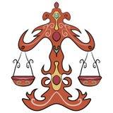 Libra astrologii znaka horoskopu zodiaka symbol Fotografia Stock
