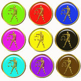 Libra astrology buttons Stock Images