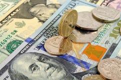 Libra británica contra el dólar de EE. UU. Fotos de archivo