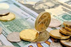 Libra británica contra el dólar de EE. UU. Imágenes de archivo libres de regalías