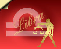 Libra card. Libra zodiac card- zodiac theme royalty free illustration