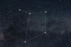 Libra Constellation. Zodiac Sign Libra constellation lines Royalty Free Stock Photo