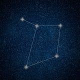 Libra Constellation. Zodiac Sign Libra constellation lines. Galaxy background Zodiac Sign Stock Photos