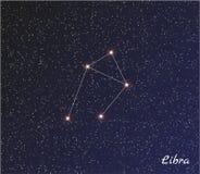 Libra de la constelación Imágenes de archivo libres de regalías