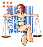 Libra del horóscopo con el fondo libre illustration