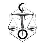 Libra del segno dello zodiaco Illustrazione di vettore Fotografia Stock