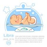 Libra dello zodiaco del bambino Fotografia Stock Libera da Diritti