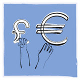 Libra euro libre illustration