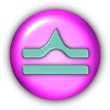 Libra Glyphs. Horoscope Glyphs Button - Libra (Include Clipping Path Royalty Free Stock Photos