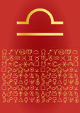 Libra, greeting card. Vectorial image Royalty Free Stock Images