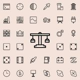 Libra icon. Detailed set of minimalistic line icons. Premium graphic design. One of the collection icons for websites, web design,. Mobile app on colored Stock Photo