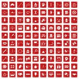 100 libra icons set grunge red. 100 libra icons set in grunge style red color isolated on white background vector illustration royalty free illustration