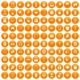 100 libra icons set orange. 100 libra icons set in orange circle isolated on white vector illustration vector illustration