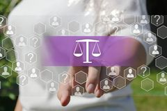 Libra. Labor Law.  Legal Business Internet  Concept. Justice, judge, contract, court, scale, lawyer, legislation, symbol, screen, employee, judgment, balance stock photography