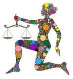 Libra, muestra del zodiaco Imagen de archivo libre de regalías