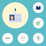 Libra plano de los iconos, traje, contrato y otros elementos del vector stock de ilustración