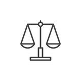 Libra, scale line icon, outline vector sign Royalty Free Stock Image