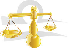 Libra the scales star sign Stock Images