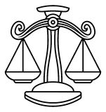 Libra Scales Zodiac Sign Royalty Free Stock Photography