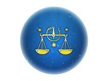 Libra - segno dorato dello zodiaco Immagine Stock Libera da Diritti