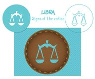 Libra. Signs of the zodiac. Laser cutting. Can be applied to wood, metal, leather, paper, cardboard, plastic. World decor royalty free stock photography
