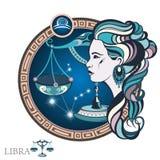 Libra Sinal do zodíaco ilustração do vetor