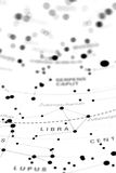 Libra on star map B. Image of a star map with Libra on it Stock Photos