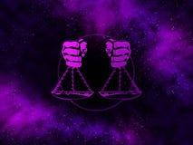 Libra Starfield do zodíaco Fotografia de Stock Royalty Free