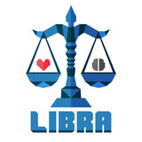 Libra Vector horoscope, polygonal flat zodiac sign, astrological sign Stock Photo