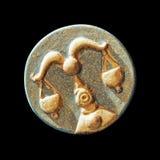 Libra zodiac horoscope symbol. On the dark background Royalty Free Stock Photo
