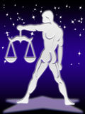 Libra zodiac sign stock image