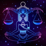 Libra zodiac sign, horoscope symbol, vector illustration Stock Photos